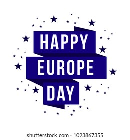 Happy Europe Day Vector Template Design