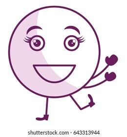 happy face emoticon kawaii character