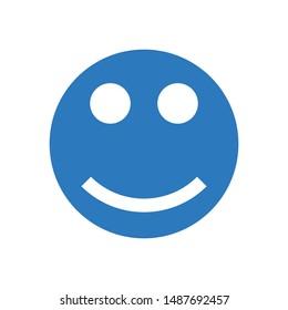 happy face glyph colour vector icon
