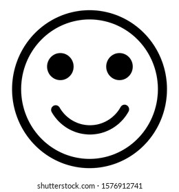 Happy Face line emoji, emoticons for app and website design