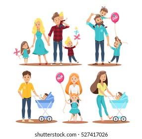 Happy family character design  no 2