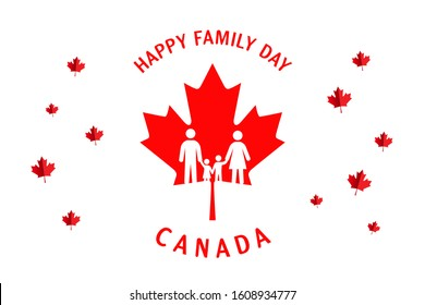 Happy Family Day Canada Background.