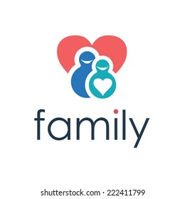 Happy family icon. Vector