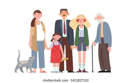 Cartoon Family Images, Stock Photos & Vectors | Shutterstock