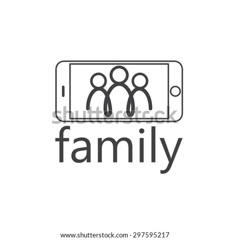 happy family selfie vector design template stock vector royalty