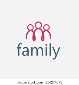 happy family vector design template
