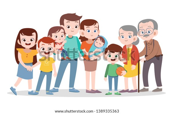 happy family vector illustration isolated