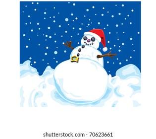 Happy Fat Snowman