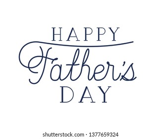 happy father day label isolated icon
