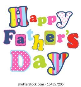 Happy Father's day artwork design