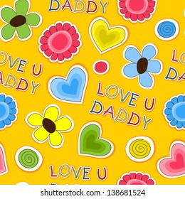 Happy Fathers Day Background.