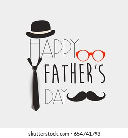 Happy fathers day , Fathers day background design ,Fathers day greeting card .