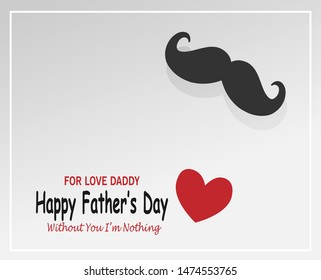 Happy Father's Day Background With Mustache