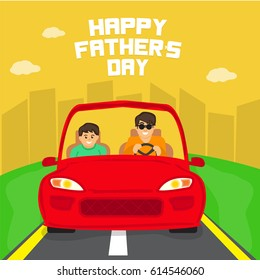 Happy Father's Day Background Vector illustration