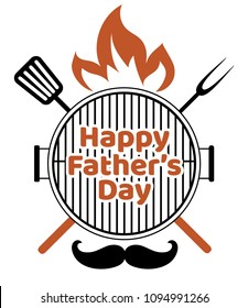Happy Father's Day Barbecue clip art isolated on white