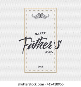 Happy fathers day card.