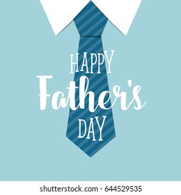 Happy fathers day card design with Big Tie. Vector Illustration.