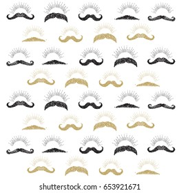 Happy Fathers day card mustaches