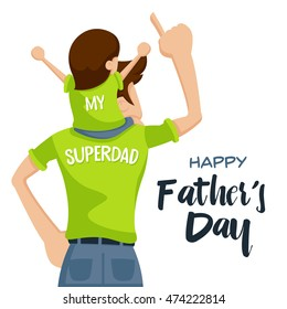 Happy Father's Day Card - Precious Happy Moment With Super Dad
