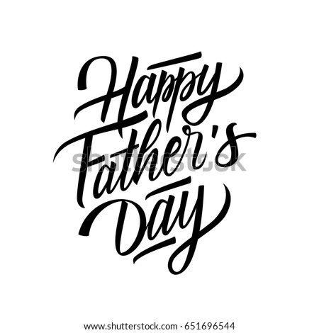 happy fathers day card template hand stock vector royalty free