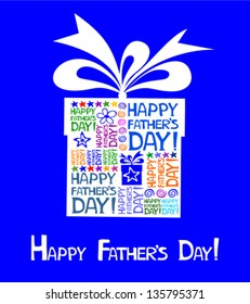Happy Father's Day card. Vector illustration
