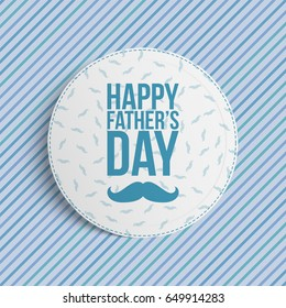 Happy Fathers Day circle Banner