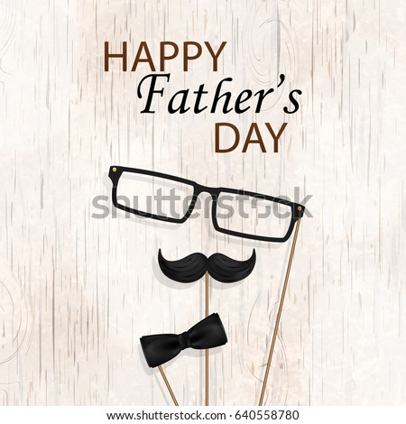 happy fathers day concept design bow stock vector royalty free