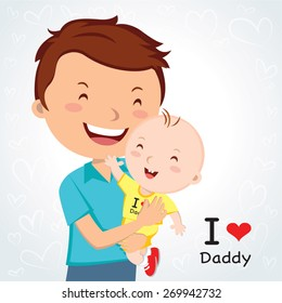 Happy Fathers' day. Father love.