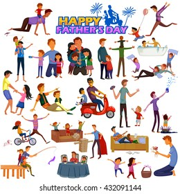 Happy Father's Day greeting background in vector