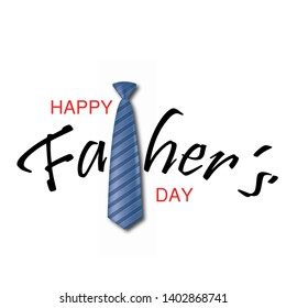 Happy Father's Day greeting card with tie . Vector.