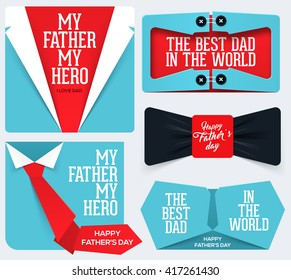 Happy Father's Day greeting card Collection.