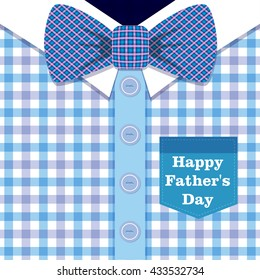 Happy Father's Day Greeting Card / I Love My DAD (shirt and bow tie design)