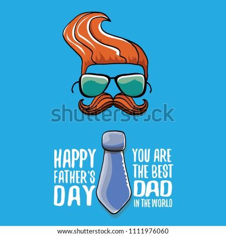 c835e0ea3aa Happy Fathers Day Greeting Card Cartoon Stock Vector (Royalty Free ...