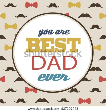 Happy Fathers Day Greeting Card Design Template Vector Illustration