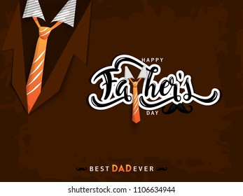 Happy Fathers Day greeting. Vector background.