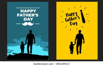 Happy Fathers Day Poster Template Vector Package