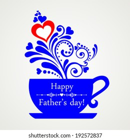 Happy Father's Day! Restaurant Menu Card Design. Menu Template on Father's Day. Vector illustration