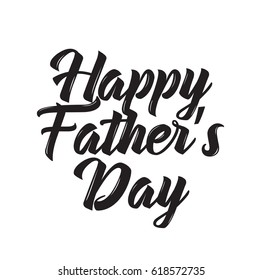 happy father's day, text design. Vector calligraphy. Typography poster. Usable as background.