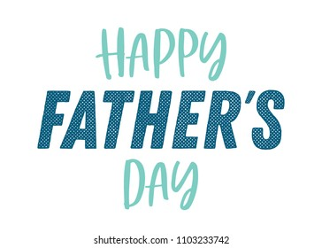 Happy Father's Day Typography Vector Text Hand Written Background for Posters, Flyers, Invitations, Social Media, Prints