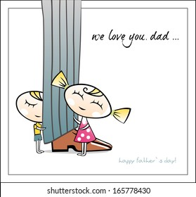 Happy father`s day. Vector