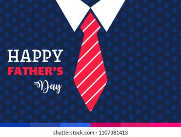 Happy fathers day. Vector background with tie and costume