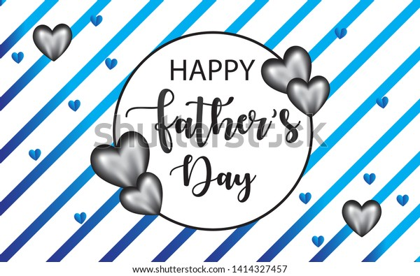 Happy Fathers Day Vector Background Blue Stock Vector (Royalty ...