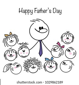 Happy Fathers Day. Vector illustration.