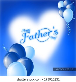 Happy Father's Day vector illustration with balloons