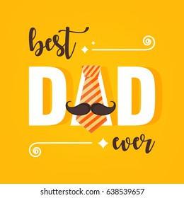 Happy Father's Day Vector Illustration based on stylish text on decorative background.