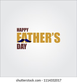 Happy Father's Day Vector Template Design Illustration