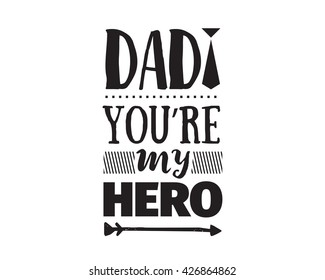 71fe4399 Happy fathers day vector typography. Vintage lettering for greeting cards,  banners, t-