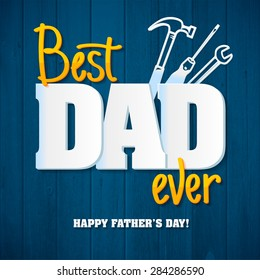 Happy Father's Day.Happy fathers day card  retro type font.