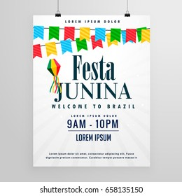 happy festa junina poster design invitation background