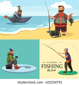 Cartoon Fisherman Images Stock Photos Vectors Shutterstock